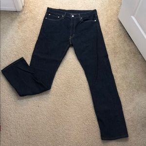 Men's Dark Wash Levi Jeans 34x32